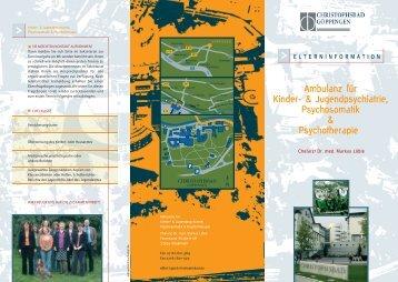 Ambulanz für Kinder- & Jugendpsychiatrie ... - Christophsbad