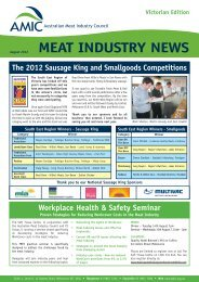 VIC Aug 2012 - Australian Meat Industry Council