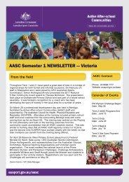 AASC Semester 1 NEWSLETTER - Australian Sports Commission