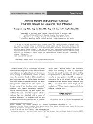 Akinetic Mutism and Cognitive-Affective Syndrome Caused by ...