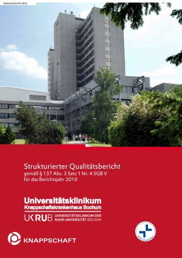 Qualitätsbericht 2010 - Knappschaftskrankenhaus Bochum