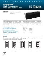 400 Series™ High-Temperature Duct Smoke ... - System Sensor