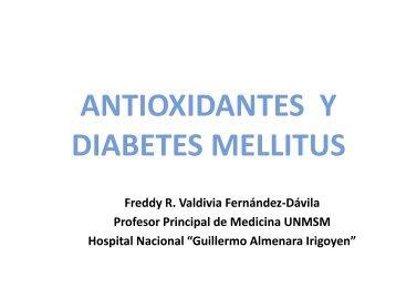 ANTIOXIDANTES Y DIABETES MELLITUS