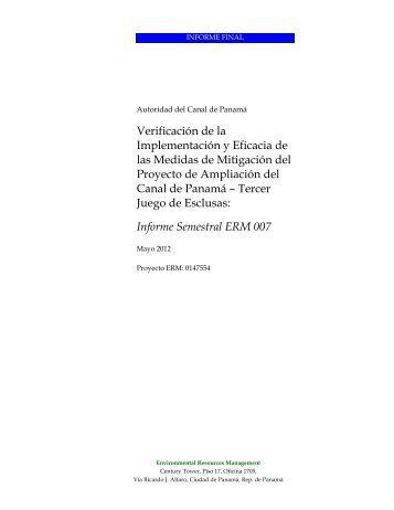 Verificación de la Implementación y Eficacia de ... - Canal de Panamá