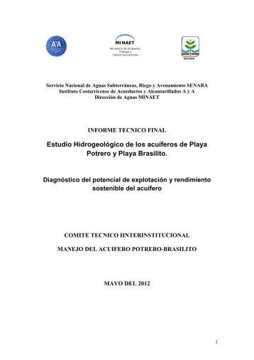 Estudio Hidrogeológico de los acuíferos de Playa Potrero y Playa ...