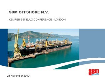 Kempen Benelux Conference – London - SBM Offshore