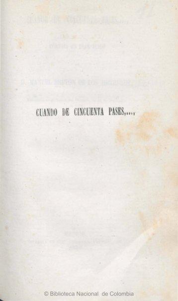 cuando de cincuenta pases - Biblioteca Nacional de Colombia