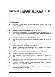 CAPÍTULO 12. LONGITUDES DE ANCLAJE Y DE EMPALME ... - Inti