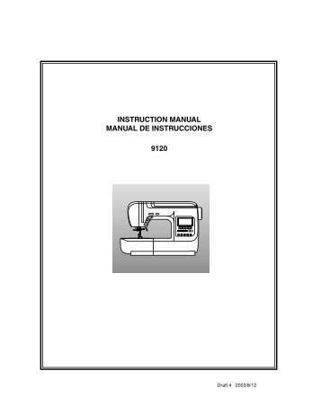 instruction manual manual de instrucciones 9120 - Shark