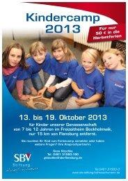 Kindercamp 2013 - Selbsthilfe Bauverein eG