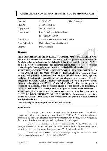 Microsoft Word - 19007093\252.doc - Secretaria de Estado de ...