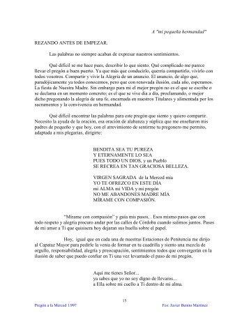 Fco. Javier Benito Martínez - Hermandad de la Merced