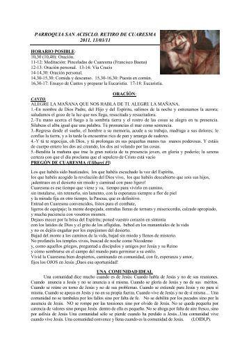 retiro cuaresma - Francisco Baena