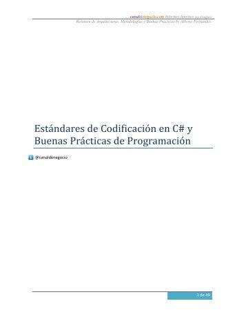 Estándares de Codificación en C# y Buenas Prácticas de ...