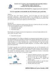 Protección Respiratoria - Instituto Nacional de Enfermedades ...