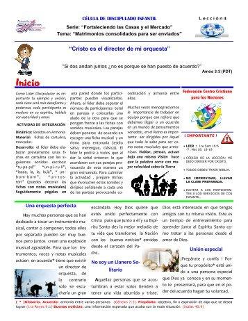 4 - Federación Centro Cristiano para las Naciones