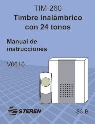 Bajar Instructivo - Archivo PDF - Steren