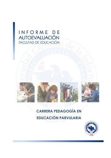 informe de autoevaluación pedagogía en educación parvularia