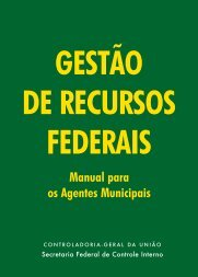 Cartilha Gestão de Recursos Federais - Controladoria-Geral da União