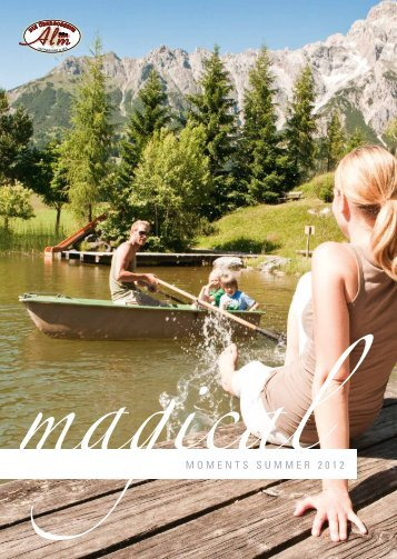 Summer Holiday Brochure - 4 Star Hotel Uebergossene Alm in the Austrian Alps