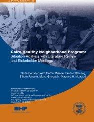 Cairo Healthy Neighborhood Program - Environmental Health at ...