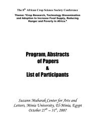 Program, Abstracts of Papers & List of Participants - African Crop ...