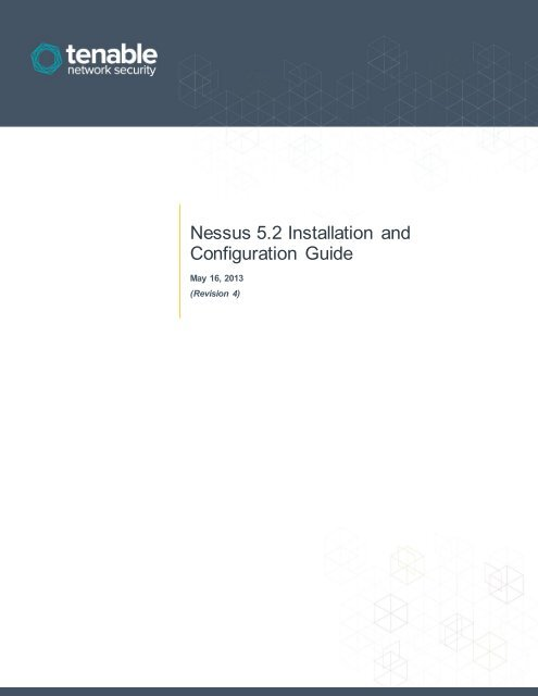 Nessus 5 2 Installation and Configuration Guide