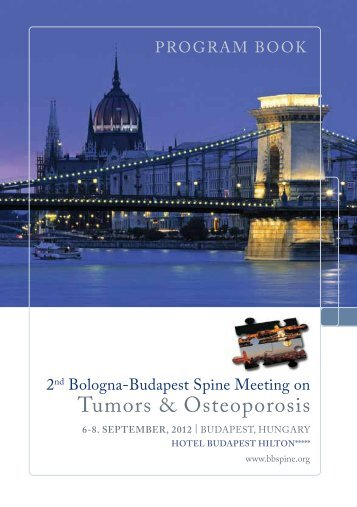 tumors & osteoporosis - Spine Expert Group Meeting at the ...