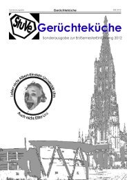 Gerüchteküche - Universität Ulm