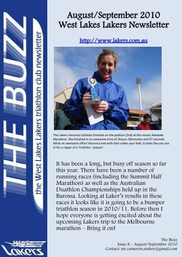 August/September 2010 West Lakes Lakers Newsletter - the Lakers ...