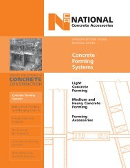 FRONT COVER - National Concrete Accessories