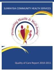 Quality of Care Report 2010-2011 - Sunraysia Community Health ...