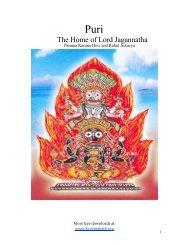 PURI The Home of Lord Jagannatha (By Parama ... - Krishna Path