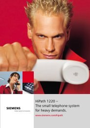HiPath 1220 – The small telephone system for heavy demands.