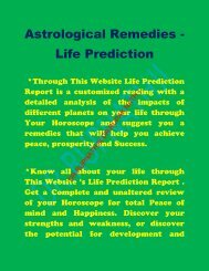 Doshas and remedies are the part and parcel of vedic astrology and