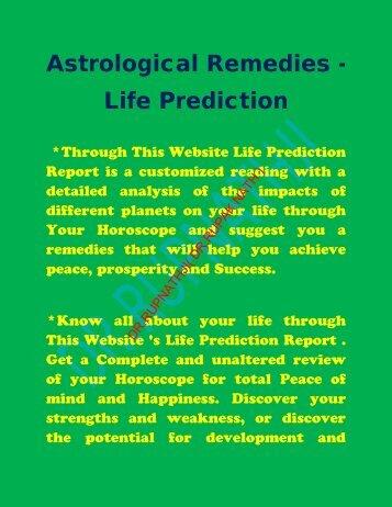 Astrological Remedies - Life Prediction - Tantrik-Astrologer