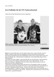 Zwei Fußballer für die TSV-Nachwuchsarbeit - beim TSV-Kastl
