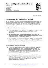 Positionspapier 04.11.09 - beim TSV-Kastl