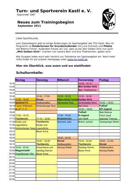 Turn- und Sportverein Kastl e. V. - beim TSV-Kastl
