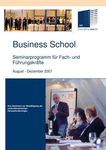 anmeldung zum seminar - Haus der Unternehmer