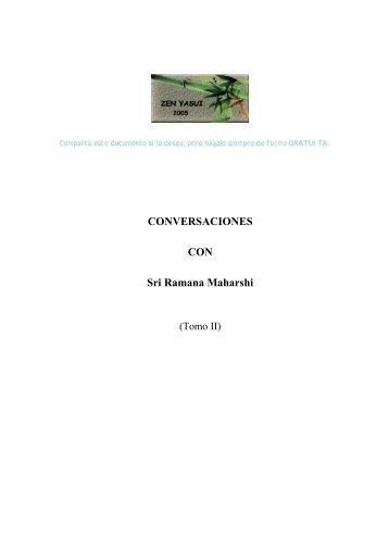 CONVERSACIONES CON Sri Ramana Maharshi - Zazen y ...