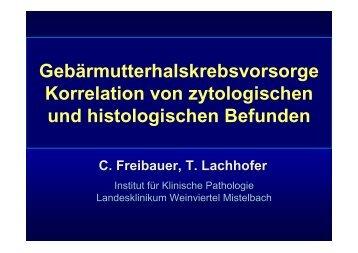 Gebärmutterhalskrebsvorsorge Korrelation von zytologischen ... - ÖGZ