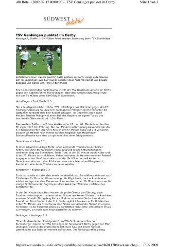 Seite 1 von 3 Alb Bote - (2009-09-17 00:00:00) - TSV Genkingen ...