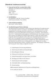 Öffentliches Verfahrensverzeichnis - Bethlehem Gesundheitszentrum