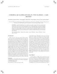 CEREBELLAR GLIOBLASTOMA IN THE ELDERLY – CASE REPORT