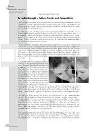 Sexualpädagogik – Fakten, Trends und Perspektiven - Akzente