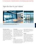 Automatic sliding door SLX/PSX system - Barbour Product Search - Page 3