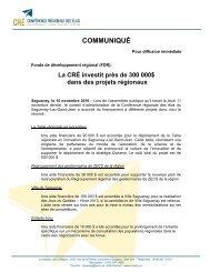 Communiqué en format PDF - Conférence régionale des élus
