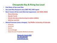 Cronin-sealevel rise estimate-pg 1 24 - Chesapeake Bay Program