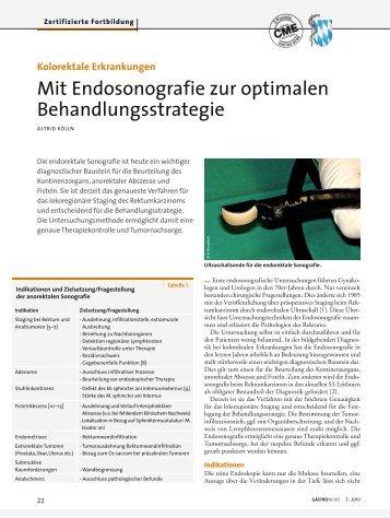 Kolorektale Erkrankungen - CME-Punkt.de